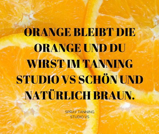 Bild: Orange beim Spray Tanning?