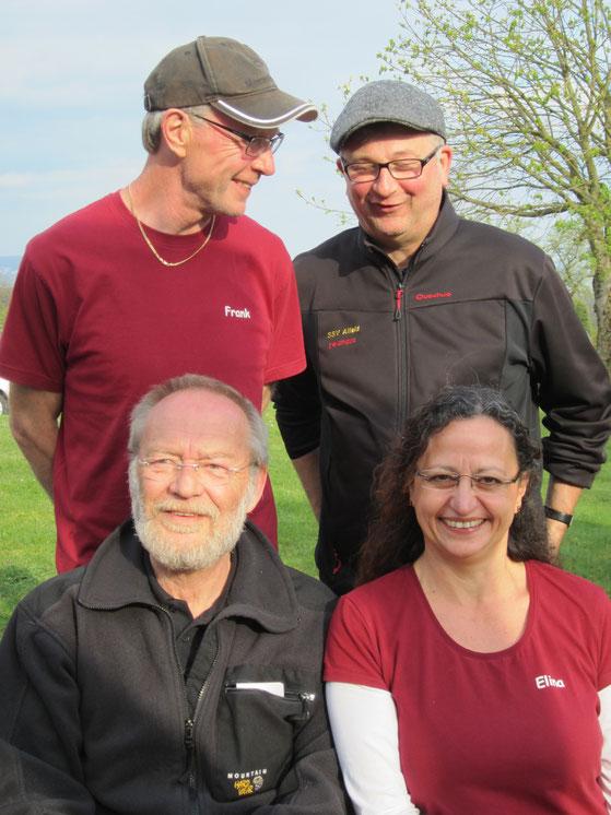 Abschluss am 6.4.2014 des Gr. Prix d´Hiver 13/14 in Bördel bei Göttingen Frank, Michel, Reimer und Elina