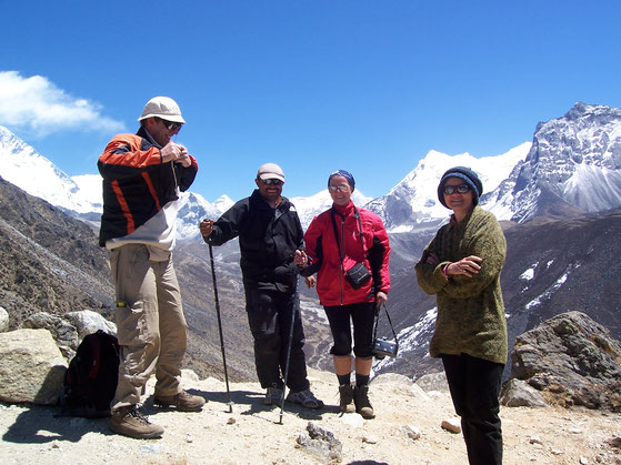 Gezellig onderonsje op bijna 5000 meter hoogte