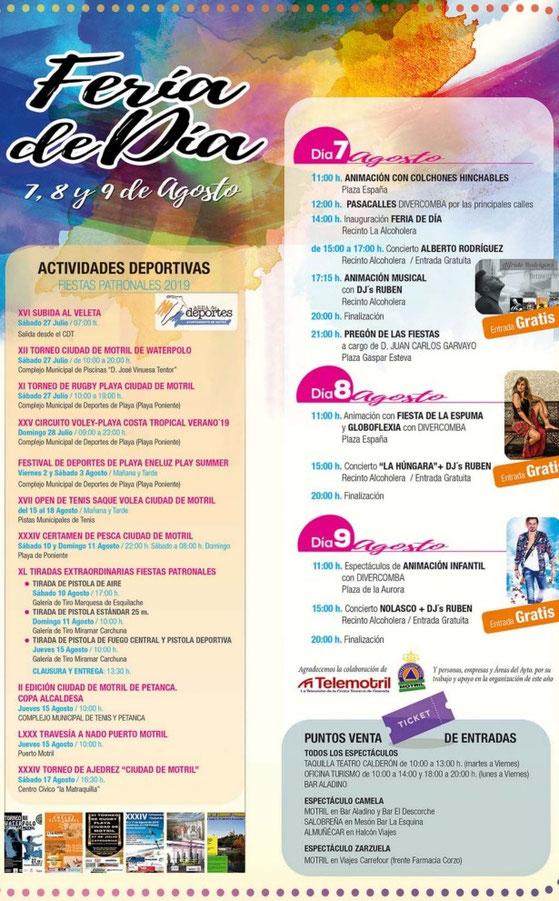Programa de las Fiestas Patronales de Motril