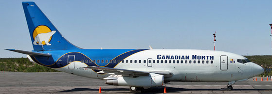 Canadian North is based in Yellowknife