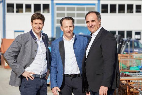 Geschäftsführung Christian Wilhelm, Marcus Wilhelm und Markus Rieder