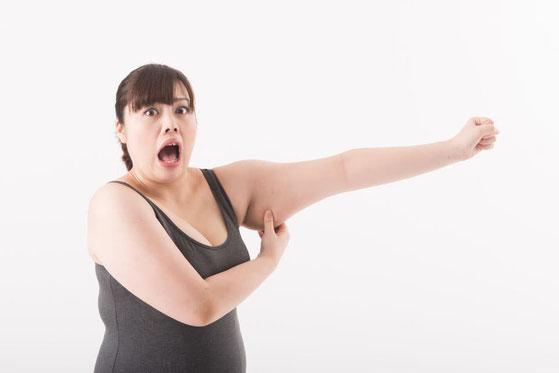 運動をしていないことも肥満の大きな原因