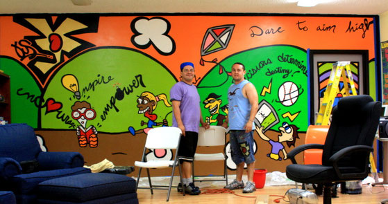 First United Methodist Church of South Miami after school program mural