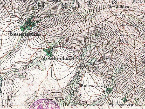 Messtischblatt der Preuß. Landesaufnahme, 1856, Reprint Thür. Landesamt VermGeo