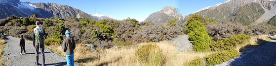 Wanderung zum Lake Hooker - Mount Cook