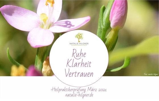 Natalie Hilgner Heilpraktikerprüfung März 2021