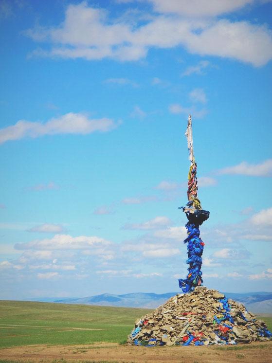 bigousteppes mongolie ovoo