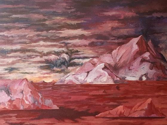 Landschaft, 2021, Acryl auf Leinwand, 160x 120 cm