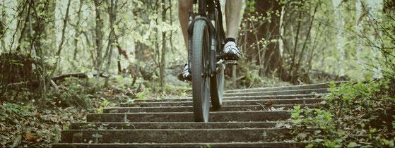 verhinderung wunder stellen beim Fahrradfahren