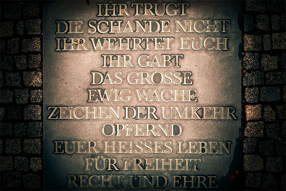 Memorial plaque, Bendlerbolck, Berlin (c) www.strobgalerie.at