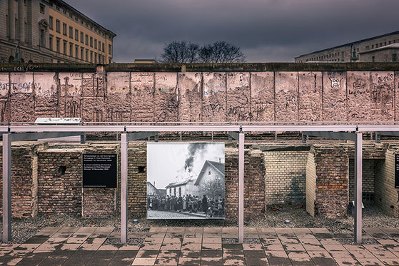 "Remains of the former Gestapo headquarters in Berlin and the ""Berlin Wall"", Niederkirchnerstrasse, Berlin (c) www.strobgalerie.at"