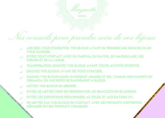 Les conseils de Muguette bijoux la cadiere d'azur - saint cyr sur mer pour garder ses bijoux fantaisies en bon état. Nos conseils pour prendre soin de vos bijoux