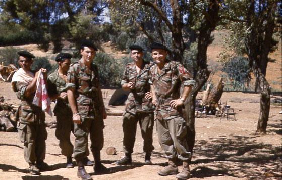 Commando de chasse du 1er bataillon du 12ème RAAMA en Algérie, en fin de conflit.