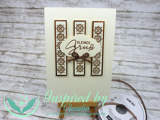 Stampin' Up! Background Bits, Quartett fürs Etikett