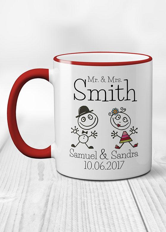personalisierte Tasse Hochzeitspaar