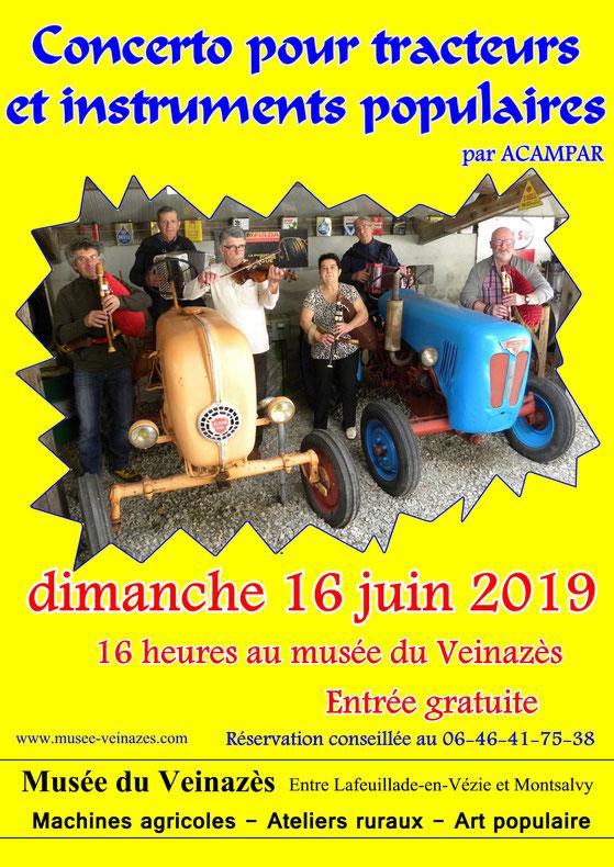 Concerto pour tracteurs instruments populaires acampar cantal musique traditionnelle