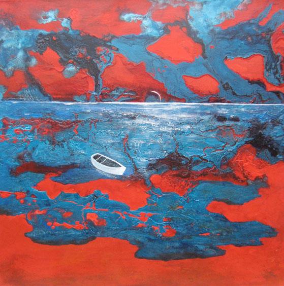 Am Meer, 70 x 70 cm,  Acrylfarbe, verkauft