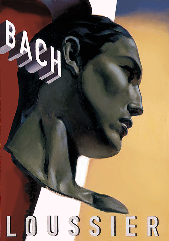 """Poster Jacques Loussier """"Play Bach"""""""