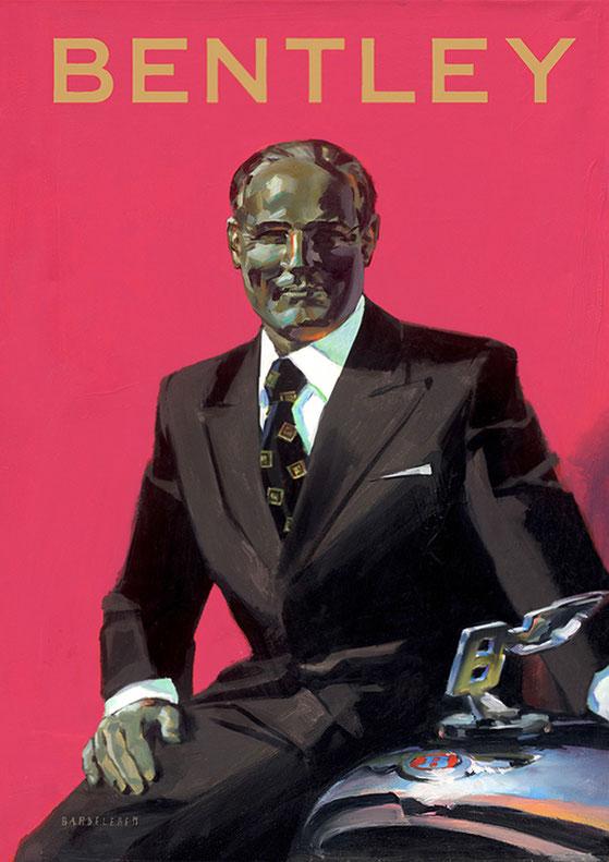 """Portrait """"Walter Owen Bentley""""  Oil on Canvas for Bentley-Showroom"""