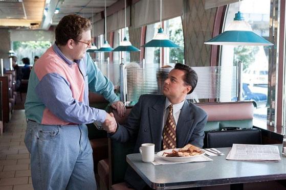 """Leonardo DiCaprio y Jonah Hill en """"El lobo de Wall Street"""""""