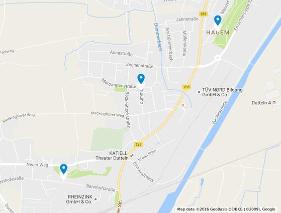Bild 1 - Markierte Stadtteile