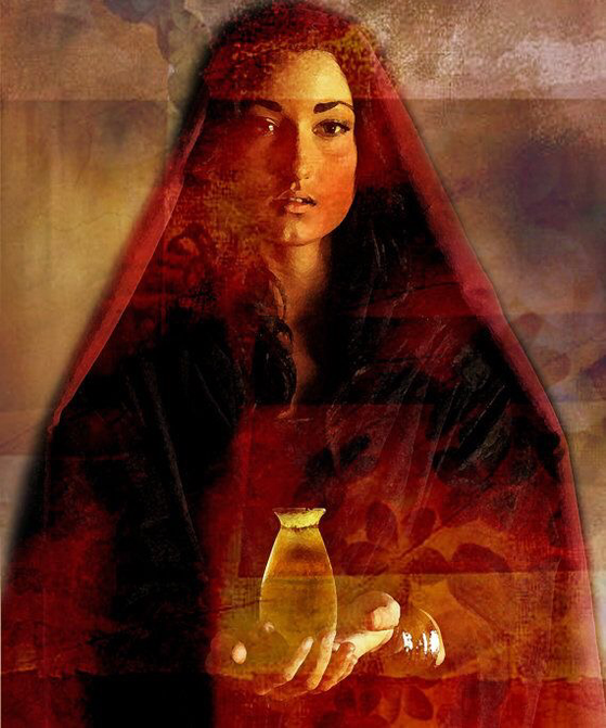 I found this picture on Pinterest. I know there's an artist behind this picture, but I don't know who it is. I'm sorry... It's the beautiful and strong Maria Magdalene.