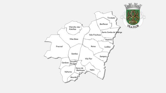 Freguesias do concelho de Vila Flor antes da reforma administrativa de 2013