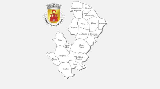 Freguesias do concelho de Miranda do Douro antes da reforma administrativa de 2013