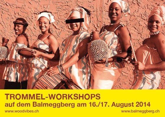 Trommel-Workshops auf dem Balmeggberg 2014