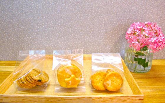 夏クッキー3種(オートミールクッキー、シトロンクッキー、チーズクラッカー)