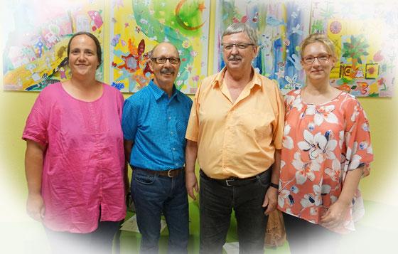 Vorstandsteam des Tägervereins: Melanie Eisert  (Schriftführerrin), Peter Kobert (Kassier), Martin Rosenberger (1. Vorsitzender) und Simone Prell-Kaatz (2. Vorsitzende)