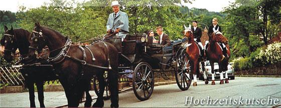 Pheaton-Kutsche als Hochzeitskutsche