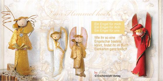 aus Buch: Eierkarton ganz festlich ISBN 3-9809799-0-3 Weihnachtliches Basteln mit Eierkarton