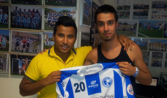 Nella foto il difensore Manuel Stante (a destra) con l'attaccante Vittorio Odoardi ( a sinistra)