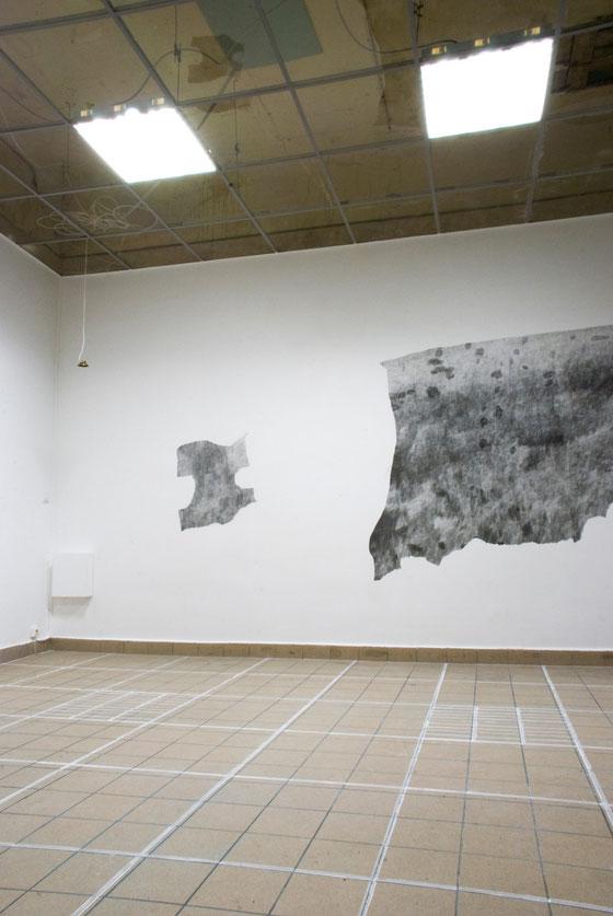 Zeichnung, Kreide auf Boden