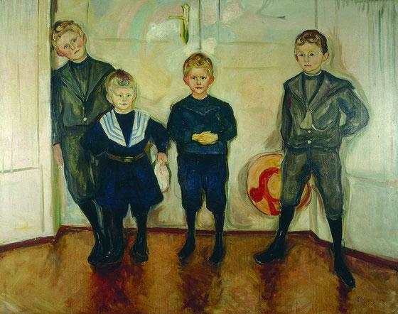 エドヴァンド・ムンク「リンデ博士の4人の息子」(1903年)