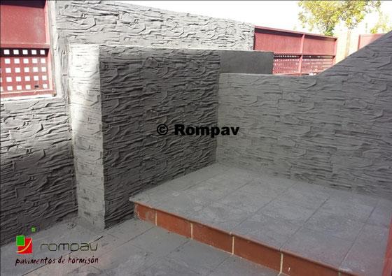 Hormigón impreso en vertical Ávila
