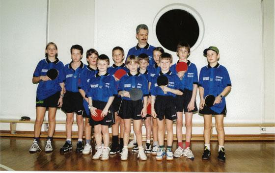 HGS Nachwuchs 1998 mit Sektionsleiter