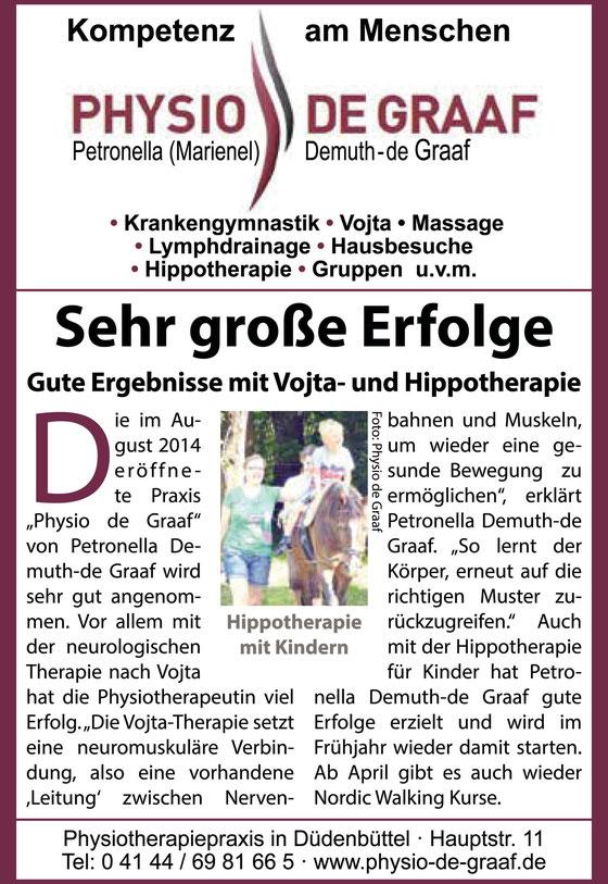 """Anzeige aus """"Willkommen in der Samtgemeinde Oldendorf Himmelpforten"""" - Neue Stader Wochenblatt"""