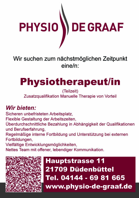 Stellenangebot Physiotherapeut/in