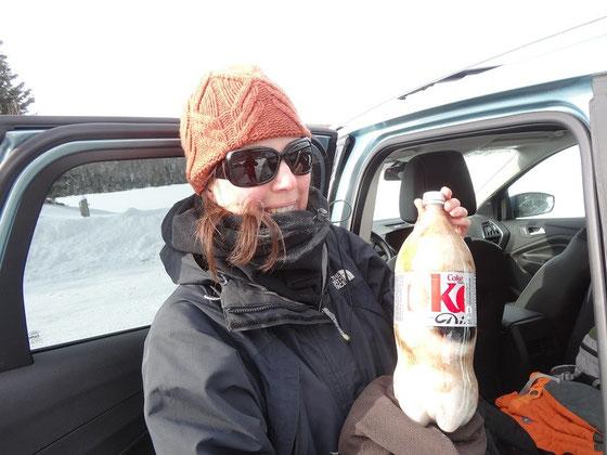 Lust auf eine Scheibe Cola? Eisgekühlte Getränke im Nationalpark Mont Tremblant.