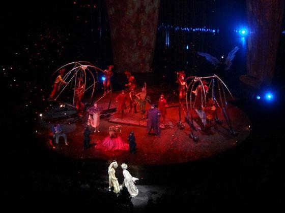 Cirque du Soleil in Toronto: Die Schlussnummer des Programms Varekai.