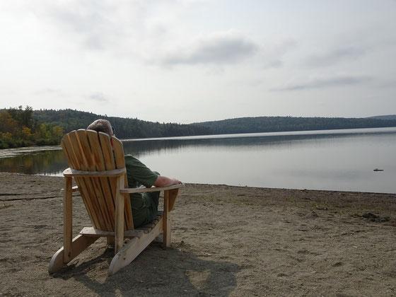 Urlaub in Quebec: Ruhepause im Parc national du Lac-Temiscouata.