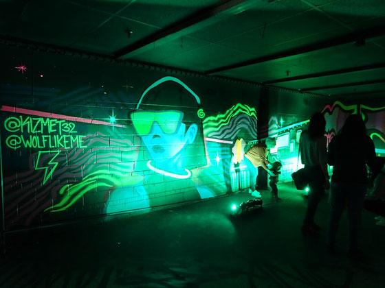 """An Honest Farewell in Toronto: Hier ein besonders farbenfroher Teil des Kunst-Labyrinths """"Art Maze""""."""