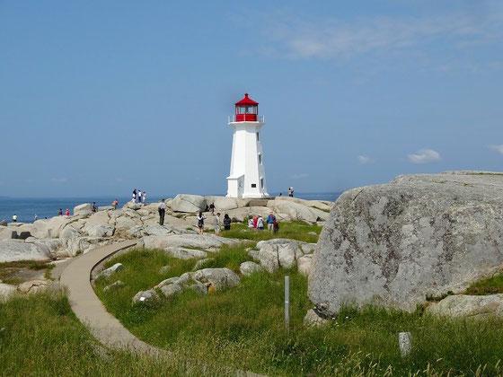 Der Leuchtturm von Peggy's Cove in Nova Scotia.