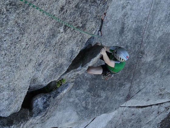 Rock climbing in Squamish, British Columbia