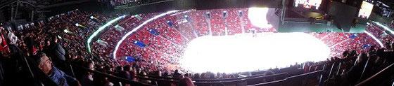 Panorama-Bild aus dem Stadion der Montreal Canadiens