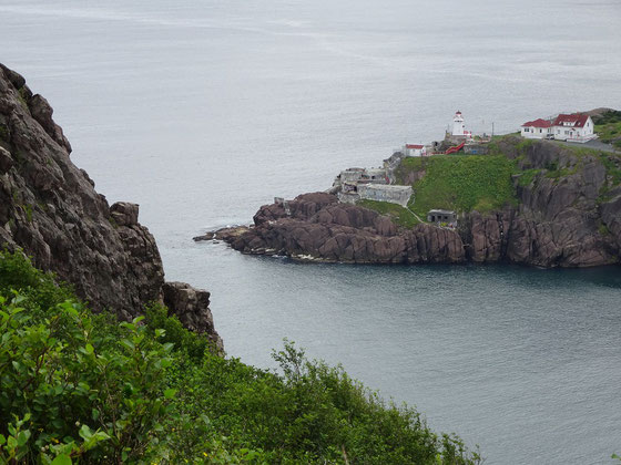 Urlaub in Neufundland: Blick vom Signal Hill auf den Ausgang der Bucht in  St. John's.
