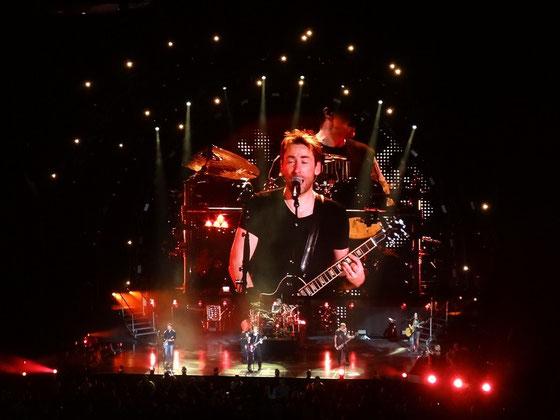 Nickelback im Konzert in Toronto. Mit seiner neuen Frisur habe ich Sänger Chad Kroeger kaum wiedererkannt ;-)